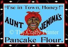 Black Americana MAGNET - AUNT JEMIMA'S PANCAKE FLOUR - I'se in Town Honey!