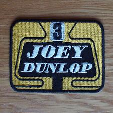 Parche de Tela de motociclista cueros Chaleco cortada la Isla de Man TT Joey Dunlop
