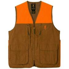 Browning Upland Game Hunting Vest - Field Tan & Blaze Orange - Choose Size - NEW