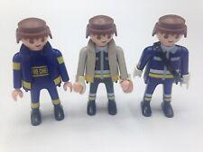 Playmobil Figures Firemen Set of 3 Men Figures Male