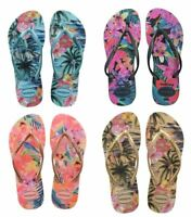 Havaianas Slim Women Tropical Blue Green Rose Black Ivory Flip Flops All Sizes