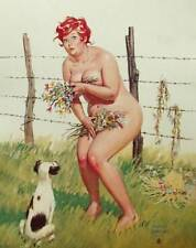 Hilda Nude Flowers Puppy Duane Bryers