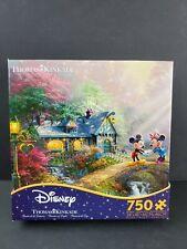 Disney Thomas Kinkade Ceaco Puzzle 750 Mickey and Minnie Sweatheart Bridge - NEW