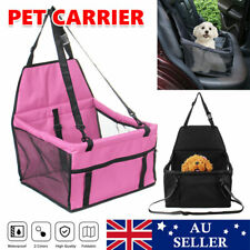 Pet Dog Cat Car Seat Booster Bag Safety Puppy Carrier Basket Solid Breathable AU