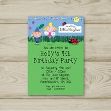 Ben & Holly Birthday Party Invitations Little Kingdom Personalised