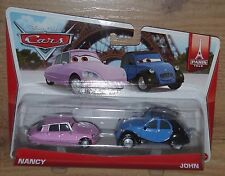 Nuevo Disney Cars Nancy John 2 Pack 1:55 escala Diecast Mattel bdw87 y0506