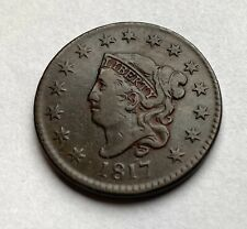 USA cent 1817 with 15 stars