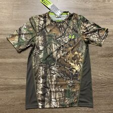Under Armour Mens Tech Scent Control T-Shirt REALTREE CAMO 1259146 946 Size Smal