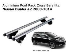 Aluminium Roof Rack Cross Bars fits Nissan Dualis + 2 2008-2014 with roof rails