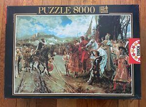RARE Educa 8000 THE CAPITULATION OF GRANADA Jigsaw Puzzle by Francisco Pradilla