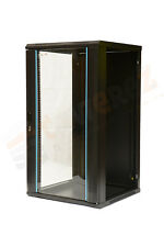12U wall mounted Data Cabinet 600 (W) x 600 (D)x 634 (H) Glass Door Flat PAck