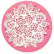 Silicone Lace Mould Fondant Embosser Cake Cupcake Mat Baking Decorating T Hood