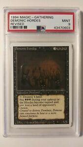 PSA 9 1994 MTG Magic - Gathering Revised Demonic Hordes - MINT