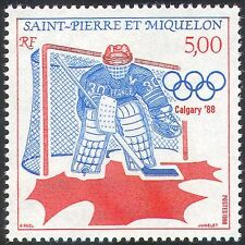 St Pierre & Miquelon 1988 Olympic Games/Olympics/Ice Hockey/Sports 1v (n30729)