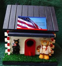Lucy Bear Benjamin Franklin Log Cabin Bird House