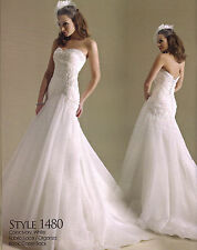 Formal Wedding Dress Bridal Ball Gown Private Label BY G #1480 White Sz 12 New