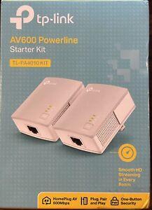 TP-Link AV600 Powerline Starter Kit - White - TL-PA4010KIT New In Box