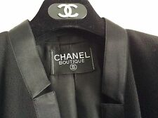 CHANEL GIACCA DONNA TG. 44 FR. / TG. 48 IT. COLORE NERO IN CREPELLA