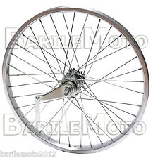 Ruota / Cerchio Posteriore CONTROPEDALE Bici City Bike - Fixed - Single 28""