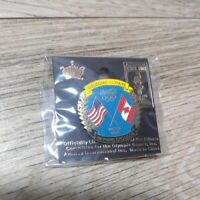 Coca Cola USA and Canada Flag Always Welcome Olympic Sponsor Enamel Lapel Pin