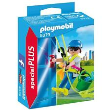 Playmobil 5379 Window Cleaner maid Limpiador de ventanas NEW BOXED Worldwide