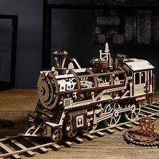 ROBOTIME DIY Steam Train Model Buliding Construction KitS Toy Gift Locomotive
