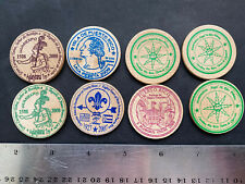 Puerto Rico 2007-09 Exonumia variety, commerce, other Wooden Tokens, lot of 8
