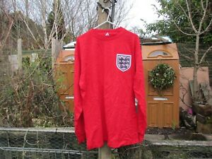 Score Draw World Cup Final England 1966 #6 Moore Red Away '66 Football Shirt (M)