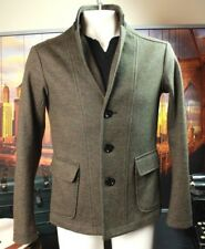 ARMANI JEANS AJ  Military Green Light Wool Jacket Sport Coat Slim Fit Small Mens