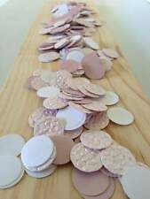 baby pink bubbles & white table decoration scatters confetti