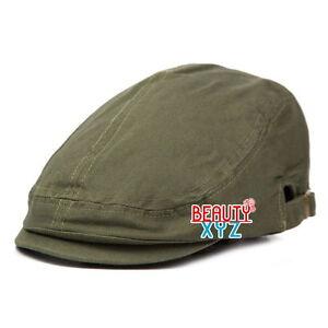 100% Cotton Gatsby Cap Newsboy Ivy Hat Summer Golf Hat Cabbie