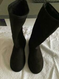 BOOHOO BLACK BOOTS SHOES CASUAL WEAR FOOTWEAR SIZE 4