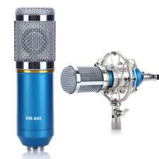 Pro Audio Dynamic Condenser Sound Recording Microphone Mic Shock Mount Blue