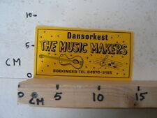 STICKER,DECAL THE MUSIC MAKERS DANSORKEST GITAAR MUSIC