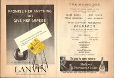 RASHOMON at The Music Box Theatre (1959) opening night Playbill w/ ticket stub