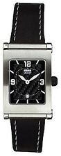 Momo Design Stainless Steel & Carbon Black Leather Watch MD-056