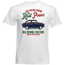Vintage Italiano coche Fiat 850 Especial-Nuevo Algodón Camiseta