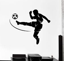 Vinyl Wall Decal Soccer Player Sport Teen Room Boy Stickers (422ig)