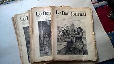 """GROS LOT D'ANCIENS JOURNAUX  """" LE BON JOURNAL """""""