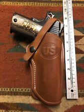Fits Colt 45 Model 1911 Tanned Leather Holster Wild Bunch Western Cowboy Holster