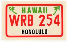 figurina U.S.A. TARGHE NUMBER PLATES EDIZIONE FIGURINA CLUB NEW HAWAII