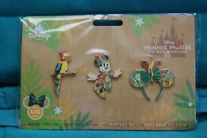 Minnie Mouse Main Attraction Tiki Room Pin Set