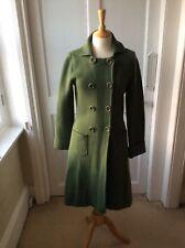 L K Bennett 100% Wool Double Jersey French Green Coat/Coatigan Cos Style UK M