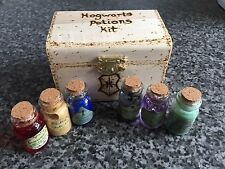 Harry Potter Hogwarts Mini Potion Kit - Wood Burnt Box - Can Be Personalised