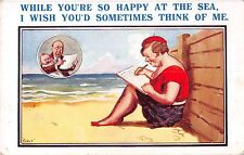 POSTCARD   COMIC  Seaside  Writing  Home...