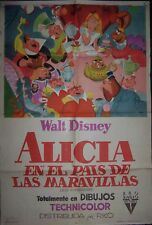 DISNEY´S Alice in Wonderland, animation,1sheet,1951, #10497