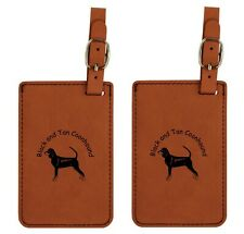 L1766 Black and Tan Coonhound Luggage Tags 2Pk Free Shipping