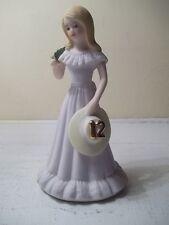 Enesco Growing Up Birthday Girl 12 Twelve Blonde Vintage Figurine 1981