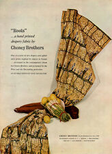 Cheney Brothers Roots Drapery Fabric HAND PRINT TEXTILE Decorating 1951 Print Ad