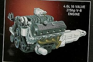MODEL ENGINE CLASSIC ( 4.6 LITER-16 VALVE 215 H.P. -V-8  1/25 LOTS OF DETAIL